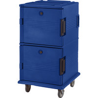 Cambro UPC1600186 Navy Blue Camcart Ultra Pan Carrier - Front Load