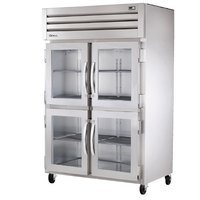 True STG2R-4HG Specification Series Two Section Glass Half Door Reach In Refrigerator - 56 Cu. Ft.