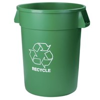 Carlisle 341032REC09 32 Gallon Green Recycling Container