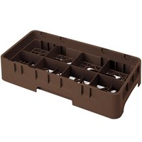 Cambro 8HS434167 Brown Camrack 8 Compartment 5 1/4 inch Half Size Glass Rack