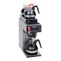 Bunn CWTF-DV Automatic 12 Cup Coffee Brewer with 2 Upper and 1 Lower Warmer - Stainless Steel Funnel Dual Voltage (Bunn 12950.0410)