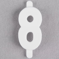 3/4 inch Flexible Molded Deli Tag Insert Number 8