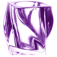 Sterno Products 80252 4 inch Purple Twist Glass Liquid Candle Holder