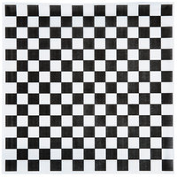 Choice 15 inch x 15 inch Black Check Deli Sandwich Wrap Paper - 1000 / Pack
