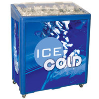 Blue SS Freeze Jr. 2080 Mobile 90 qt. Cooler Merchandiser