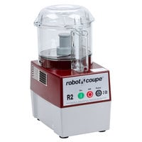 Robot Coupe R2BCLR Food Processor with 3 Qt. Clear Polycarbonate Bowl - 1 hp