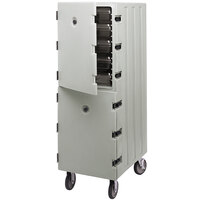 Cambro 1826DBC180 Camcart Light Gray Double Compartment Food Storage Box Carrier