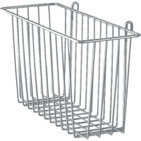 Metro H212-DSH Silver Hammertone Storage Basket for Wire Shelving 17 3/8 inch x 7 1/2 inch x 10 inch