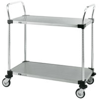 Metro MW103 Super Erecta 18 inch x 24 inch x 38 inch Two Shelf Standard Duty Stainless Steel Utility Cart