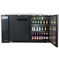 Avantco UBB-24-60 60 inch Narrow Solid Door Back Bar Cooler Stainless Steel Top and LED Lighting