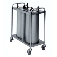 APW Wyott TL2-8 Trendline Mobile Unheated Two Tube Dish Dispenser for 7 3/8 inch to 8 1/8 inch Dishes