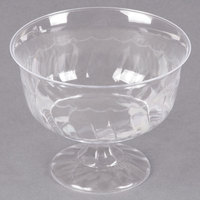 Fineline Flairware 2088 Clear 8 oz. One-Piece Plastic Dessert Cup - 240/Case