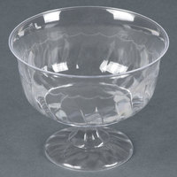 Fineline Flairware 2088 Clear 8 oz. One-Piece Plastic Dessert Cup 240 / Case