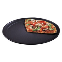 American Metalcraft HCTP12 12 inch Wide Rim Pizza Pan - Hard Coat Anodized Aluminum