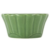 CAC RMK-F4G Festiware 4 oz. China Floral Ramekin Green 48/Case