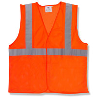 Orange Class 2 High Visibility Surveyor's Safety Vest with Velcro® Closure - Medium