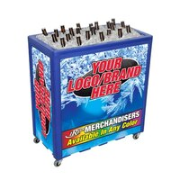 Blue Avalanche 300 Mobile 112 qt. Cooler Merchandiser
