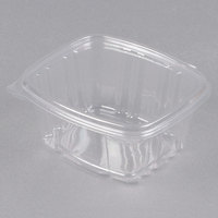 D&W Fine Pack VH16PC1 VersaPak 16 oz. Recyclable Square Hinged Take Out Deli Container - 200/Case