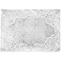 10 inch x 14 inch Silver Foil Lace Doily - 1000 / Case