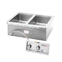Wells MOD200TD 2 Pan Drop-In Hot Food Well with Drains - Thermostatic Control