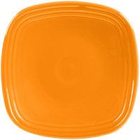 Homer Laughlin 921325 Fiesta Tangerine 7 1/2 inch Square Salad Plate - 12/Case