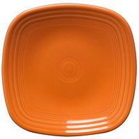 Homer Laughlin 921325 Fiesta Tangerine 7 1/2 inch Square Salad Plate - 12 / Case
