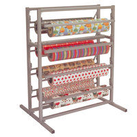 Bulman T375-48 48 inch Twin Tower 8 Roll Paper Rack