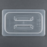 Cambro 40PPCH 1/4 Size Translucent Polypropylene Handled Lid