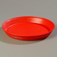 Carlisle 652605 WeaveWear Red Round Plastic Serving Basket 12 inch 1.8 Qt. 12 / Case