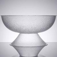 Cambro PPB18176 20.25 Qt. Pebbled Pedestal Punch Bowl