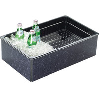 Cal-Mil 368-12-17 Granite Charcoal ABS Fully Insulated Ice Housing - 20 inch x 12 inch x 6 inch