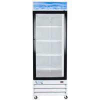 "Avantco GDC-23 28"" White Swing Glass Door Merchandiser Refrigerator with LED Lighting"
