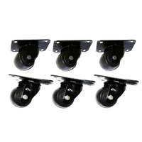 True 881348 2 1/2 inch Swivel Plate Casters - 6 / Set