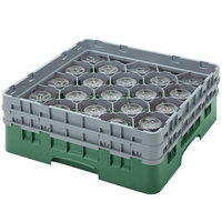 Cambro 20S958119 Camrack 10 1/8 inch Green 20 Compartment Glass Rack