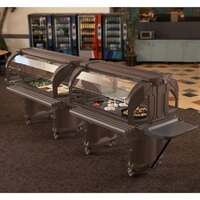 Cambro VBRHD6146 Bronze 6' Versa Food / Salad Bar with Heavy Duty Casters