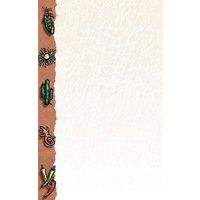 8 1/2 inch x 11 inch Menu Paper Left Insert - Southwest Themed Desert Design - 100/Pack