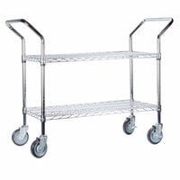 Regency 18 inch x 36 inch Two Shelf Chrome Heavy Duty Utility Cart