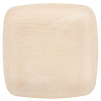 Bambu 063200 9 inch Disposable Square Bamboo Plate - 100 / Box