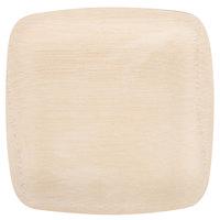 Bambu 063200 9 inch Disposable Square Bamboo Plate   - 100/Box