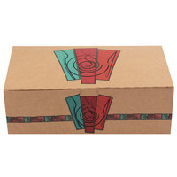 9 inch x 5 inch x 3 inch Take Out Lunch / Snack / Chicken Box with Harvest Design 250 / Case