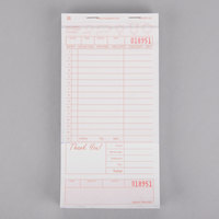 Royal Paper GC4997-2B 2 Part Tan and White Carbonless Guest Check with Bottom Guest Receipt - 40/Case