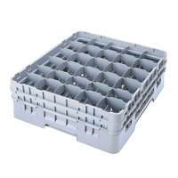 Cambro 30S800151 Soft Gray Camrack 30 Compartment 8 1/2 inch Glass Rack