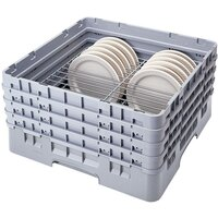 Cambro CRP4856151 Soft Gray Full Size PlateSafe Camrack 5-6 inch