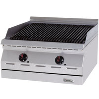 Garland GD-24RBFF Designer Series Natural Gas 24 inch Radiant Charbroiler with Flame Failure Protection - 60,000 BTU