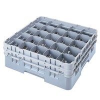 Cambro 25S318151 Camrack 3 5/8 inch High Soft Gray 25 Compartment Glass Rack