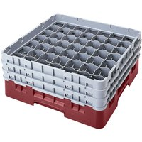Cambro 49S434163 Red Camrack 49 Compartment 5 1/4 inch Glass Rack