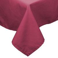 90 inch x 90 inch Mauve Hemmed Polyspun Cloth Table Cover
