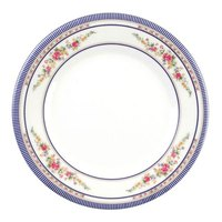 Rose 7 7/8 inch Round Melamine Plate - 12/Pack