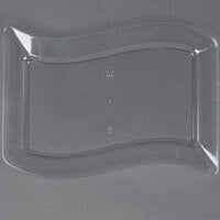 Fineline Wavetrends 1406-CL 6 1/2 inch x 10 inch Clear Plastic Salad Plate - 10/Pack