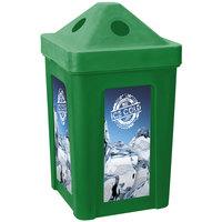 Green Stacking Pyramid Lid Recycle Bin - 48 Gallon